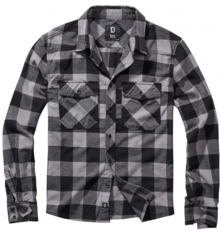 Brandit Check Shirt Flanellhemd Black-Charcoal