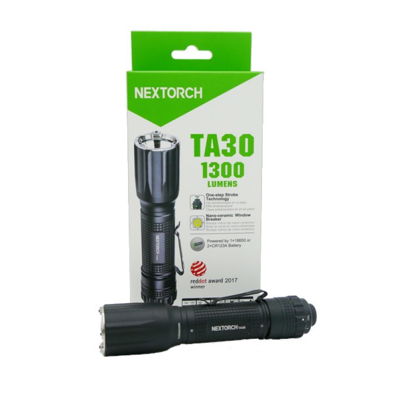 Nextorch TA 30 S 2019 Tactical LED Taschenlampe 1300 Lumen